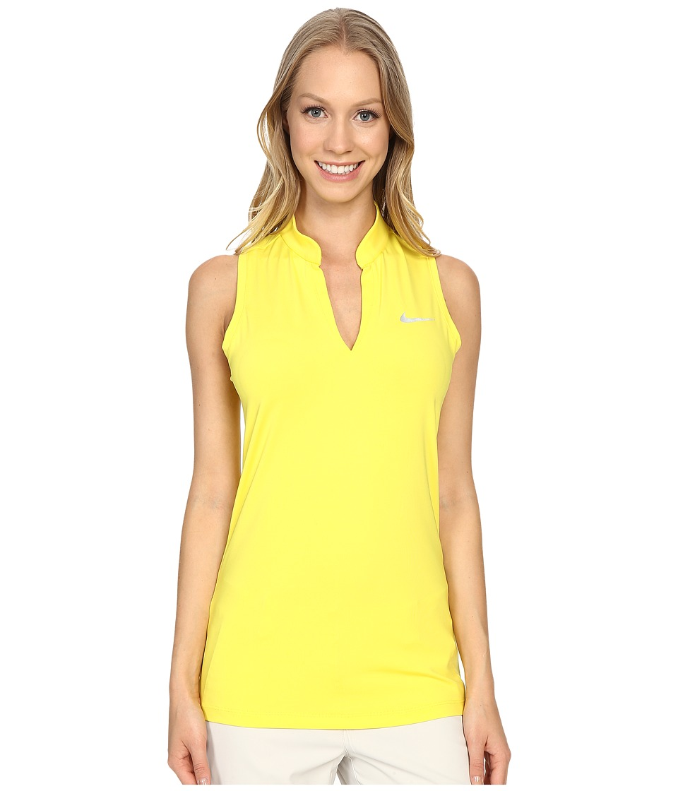 Nike Golf Ace Melt Away Racerback Optic Yellow/Reflective Silver Womens Sleeveless