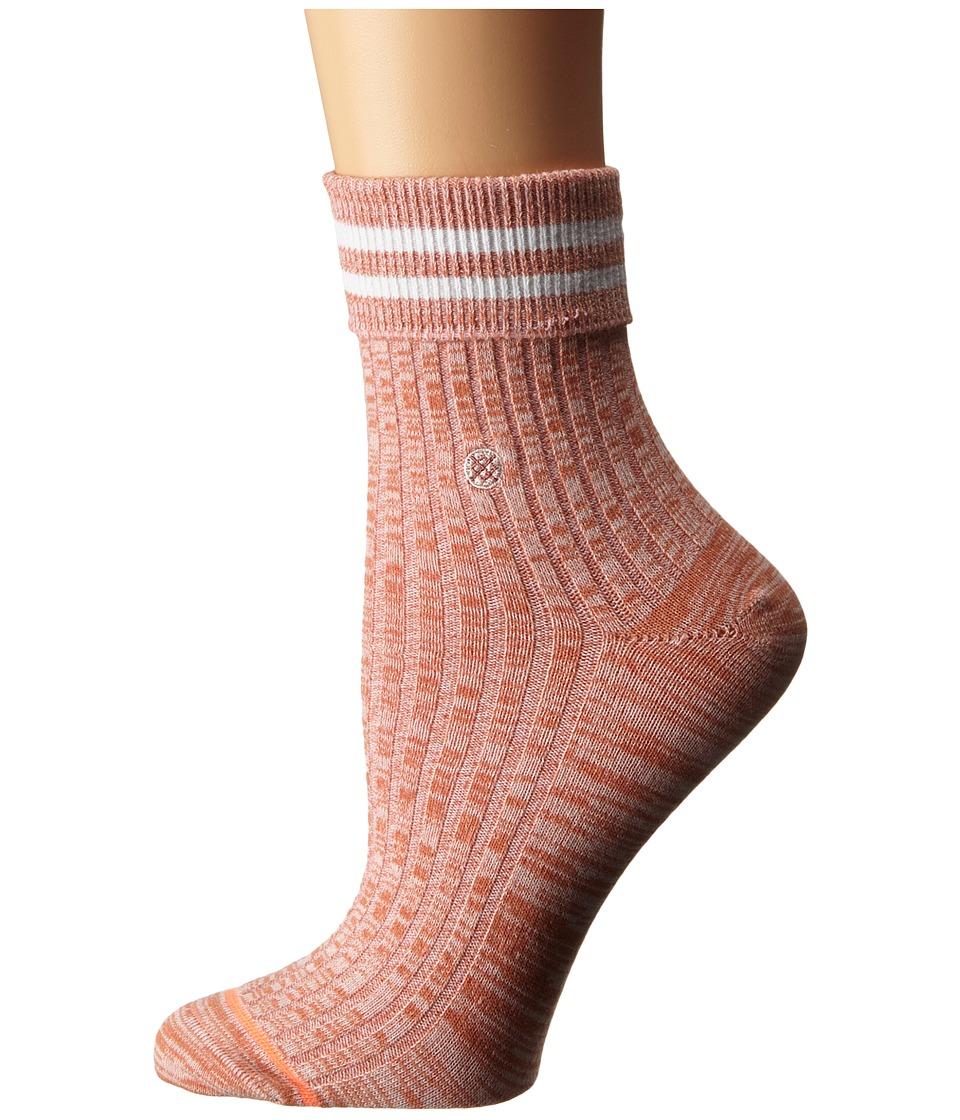Stance Sirianni Pink Womens Crew Cut Socks Shoes