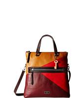 6PM:FossilDawson Fold-Over Tote女士真皮拼色折叠手提包 原价$288 现价$104.99