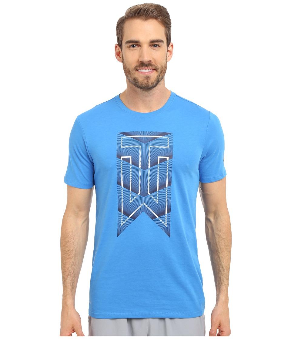 Nike Golf Tiger Woods Graphic Tee Light Photo Blue/Midnight Navy/Reflect Black Mens T Shirt