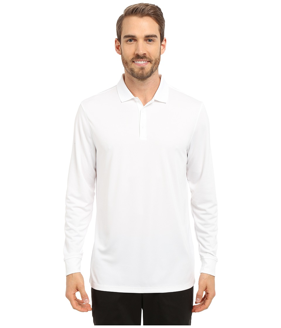 Nike Golf - Victory Long Sleeve Polo (White/Black) Mens Long Sleeve Pullover