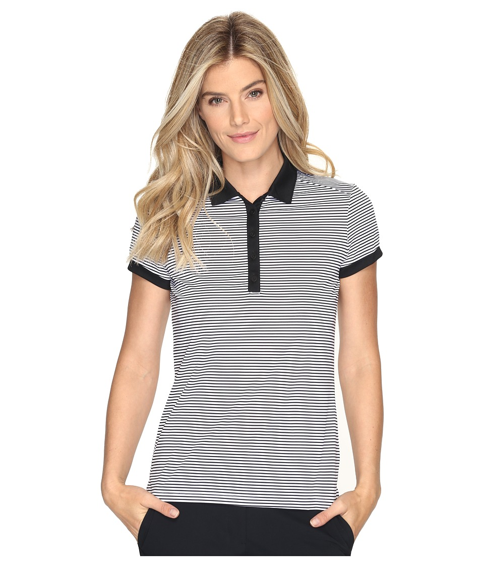Nike Golf - Victory Stripe Polo (Black/White/White) Women...
