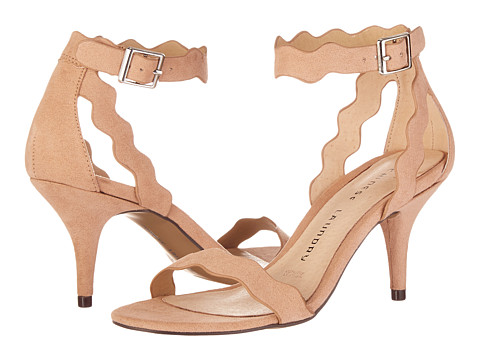 Chinese Laundry Rubie Scalloped Sandal - Dark Nude Micro Suede
