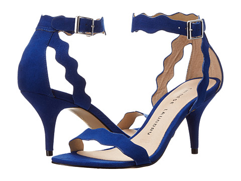 Chinese Laundry Rubie Scalloped Sandal - Deep Ocean Blue Micro Suede
