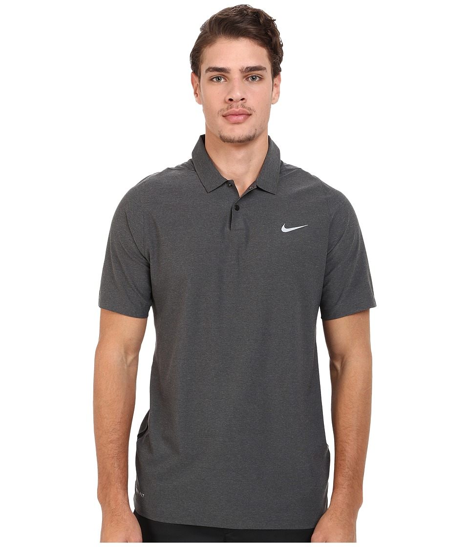 Nike Golf - Tiger Woods Velocity Woven Solid Polo (Black/...