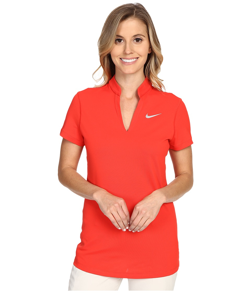 Nike Golf Ace Pique Polo Light Crimson/Reflective Silver Womens Short Sleeve Pullover