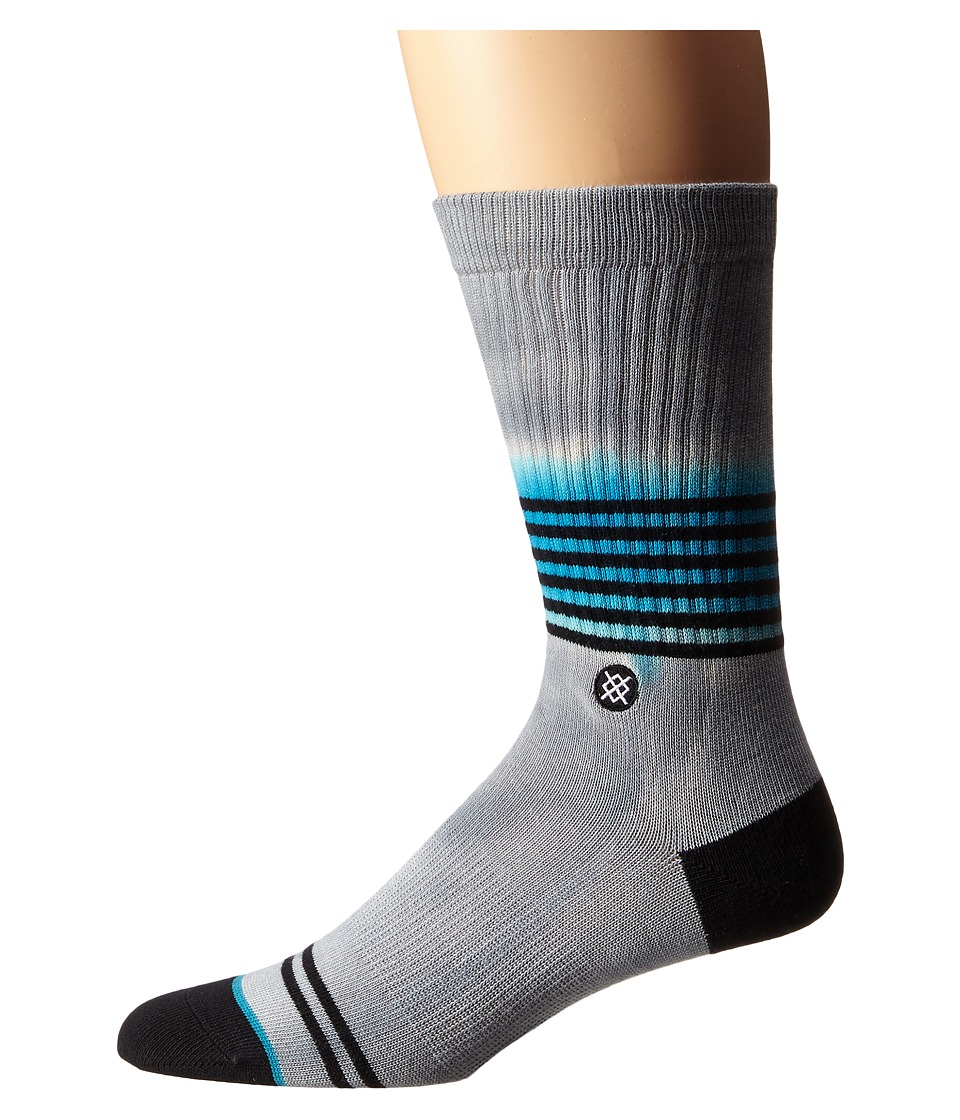 Stance Angler Grey Mens Crew Cut Socks Shoes