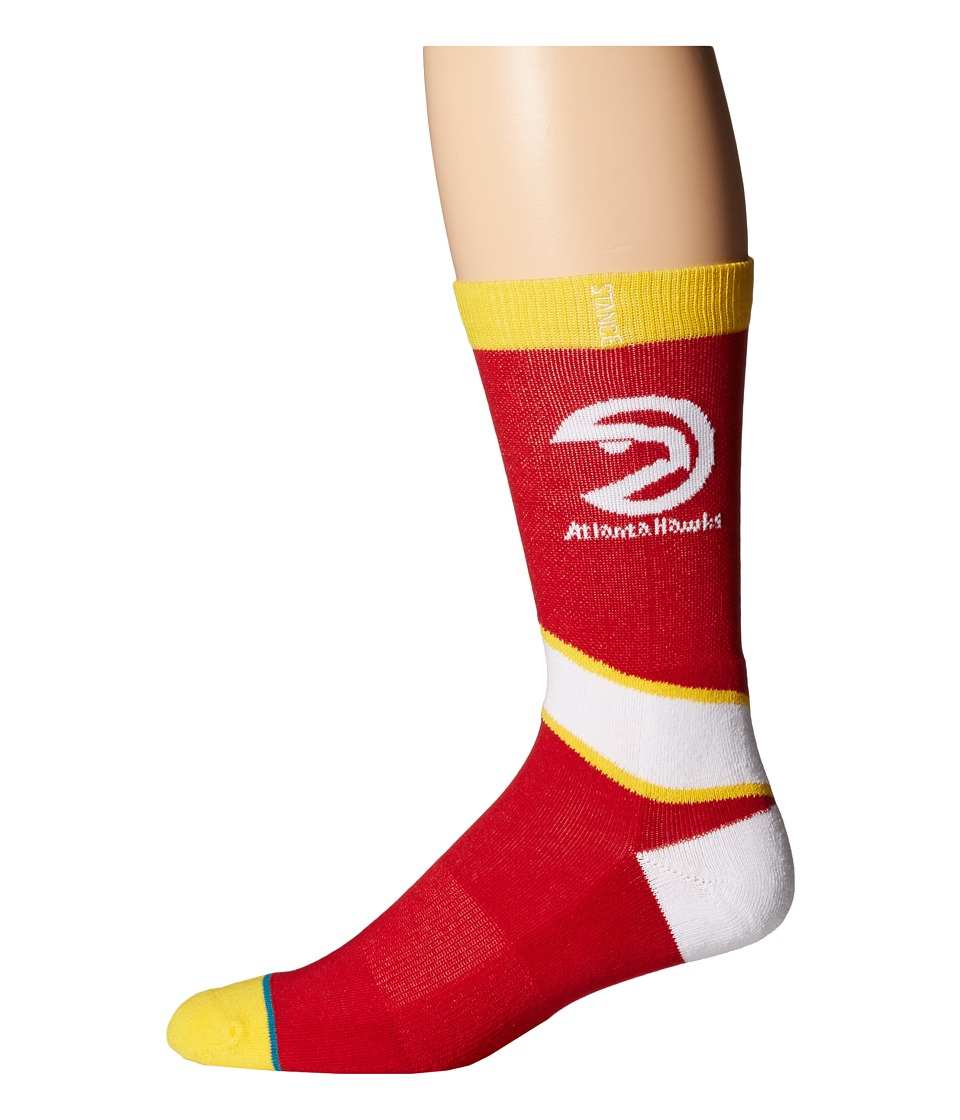 Stance Atlanta Hawks Red Mens Crew Cut Socks Shoes