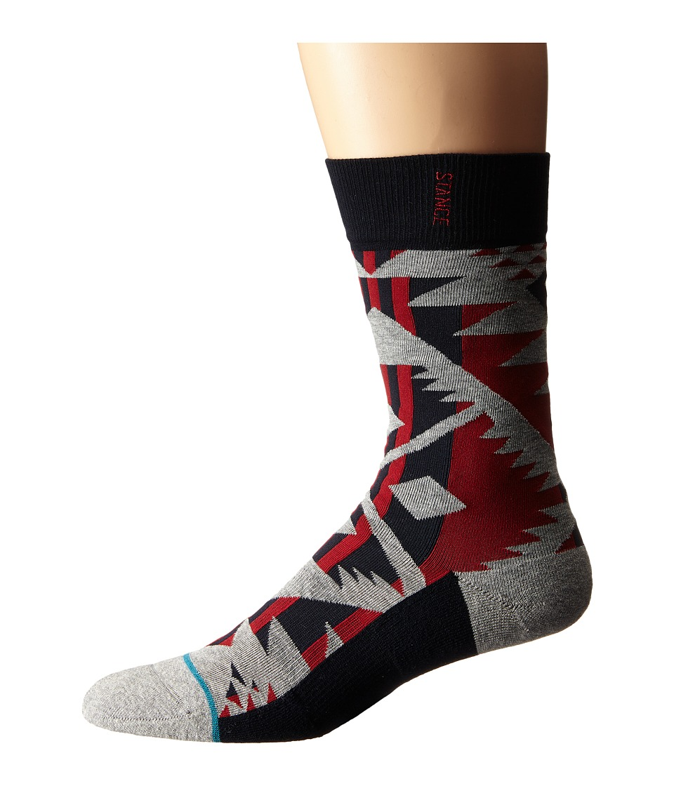 Stance Lowlands Red Mens Crew Cut Socks Shoes