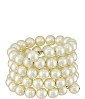 Kenneth Jay Lane - 4 Row Cultura Pearl 10mm Coil Bracelet