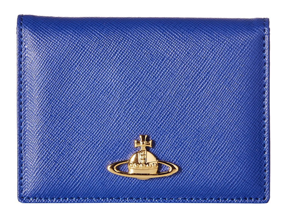 Vivienne Westwood - Saffiano Card Holder (Navy) Coin Purse