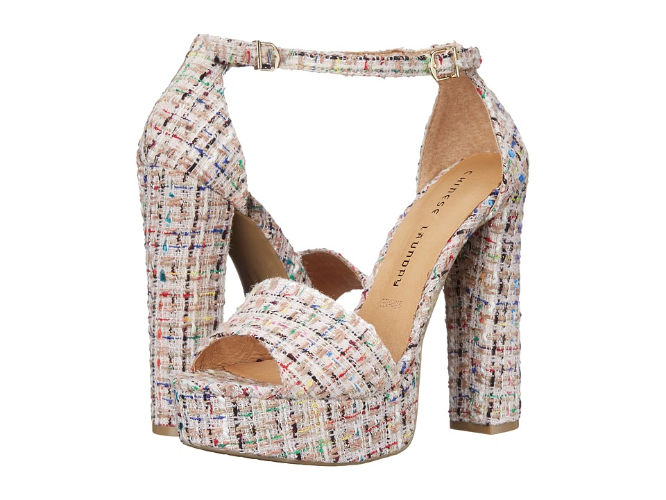 Chinese Laundry Avenue Pink Tweed Womens Sandals