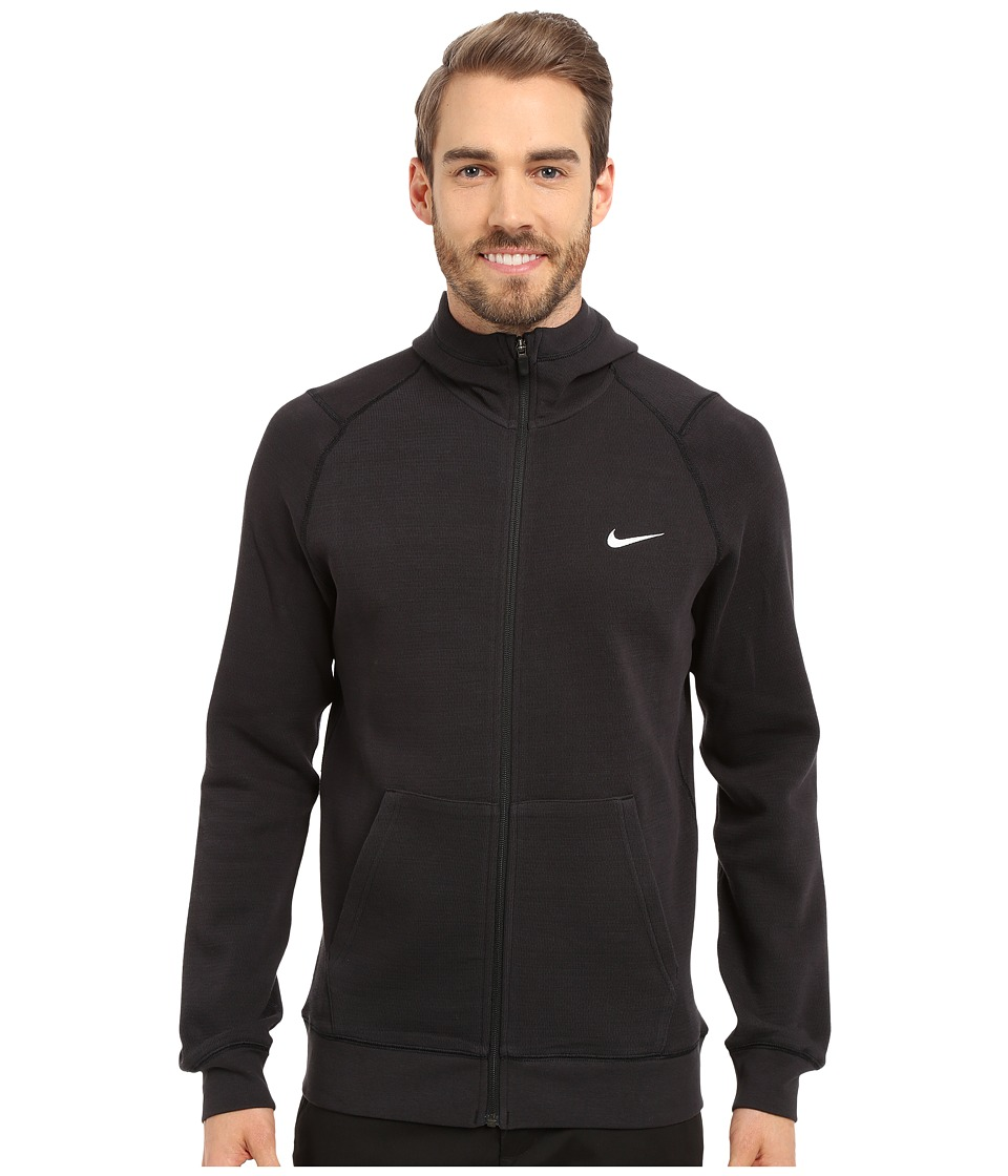 Nike Golf - Range Sweater Hoodie (Black/Metallic Silver) Men