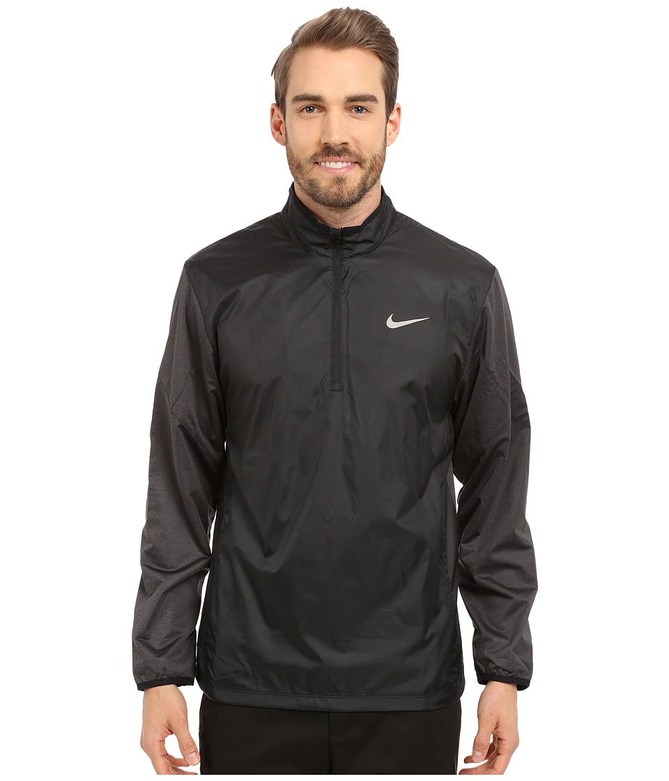 Nike Golf 1/2 Zip Shield Top Black/Black Heather/Black/Reflective Silver Mens Coat