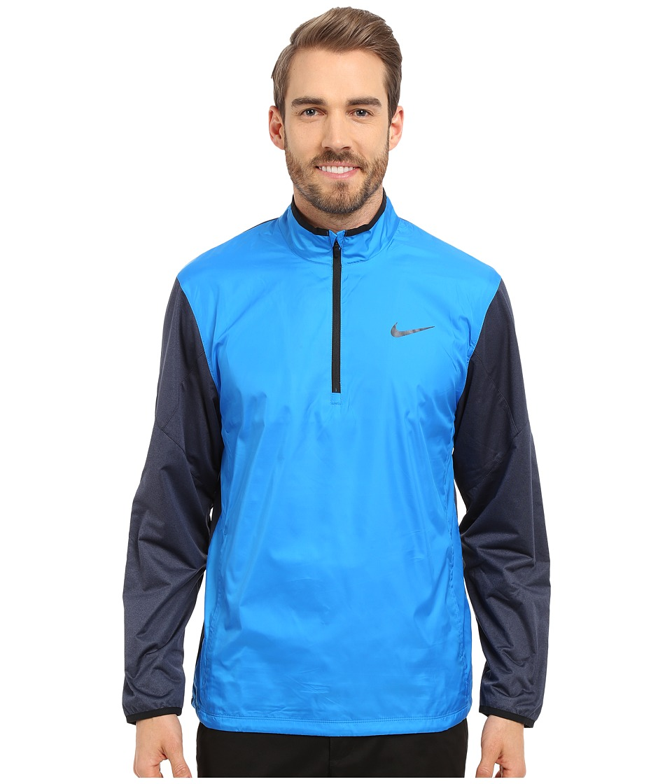 Nike Golf 1/2 Zip Shield Top Photo Blue/Obsidian Heather/Black/Reflect Black Mens Coat