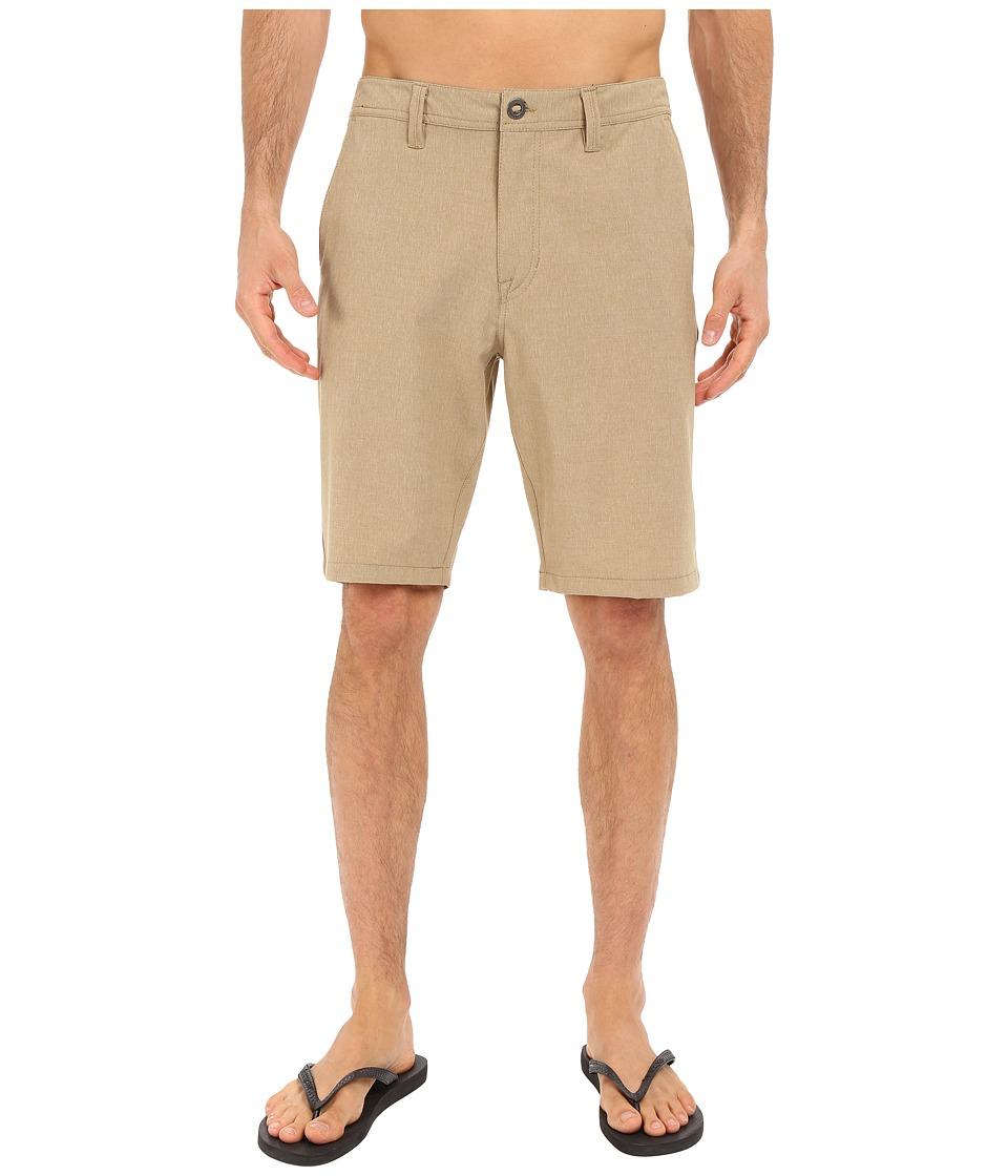 Volcom SNT Static Hybrid Shorts (Dark Khaki) Men
