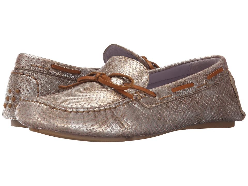 Johnston & Murphy - Maggie Camp Moc (Champagne Metallic Snake Print) Womens Slip on  Shoes