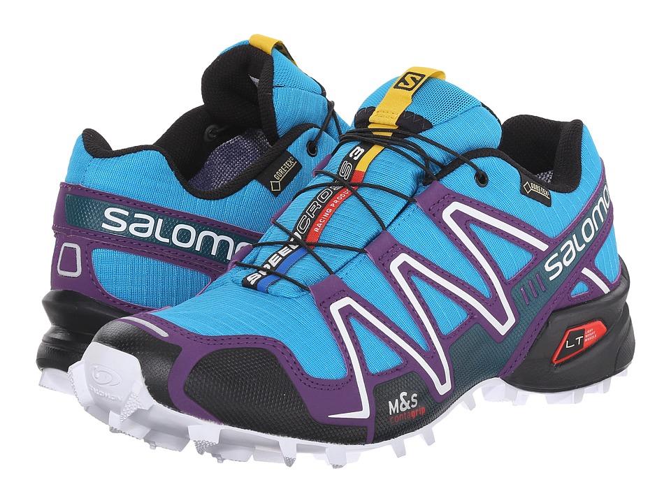 Salomon - Speedcross 3 GTX (Scuba Blue/Cosmic Purple/Black) Womens Shoes