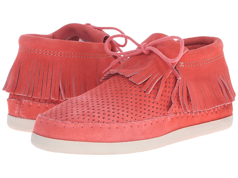 Minnetonka - Venice Perf (Melon Perforated Suede) Women