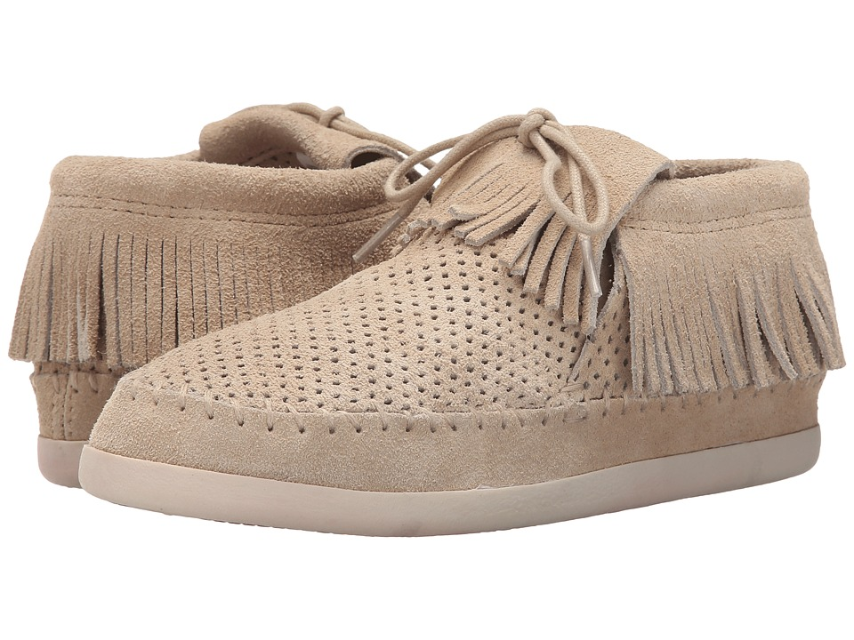 Minnetonka - Venice Perf (Stone Perforated Suede) Women