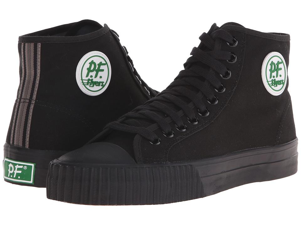 PF Flyers Core Hi Black Canvas Mens Shoes