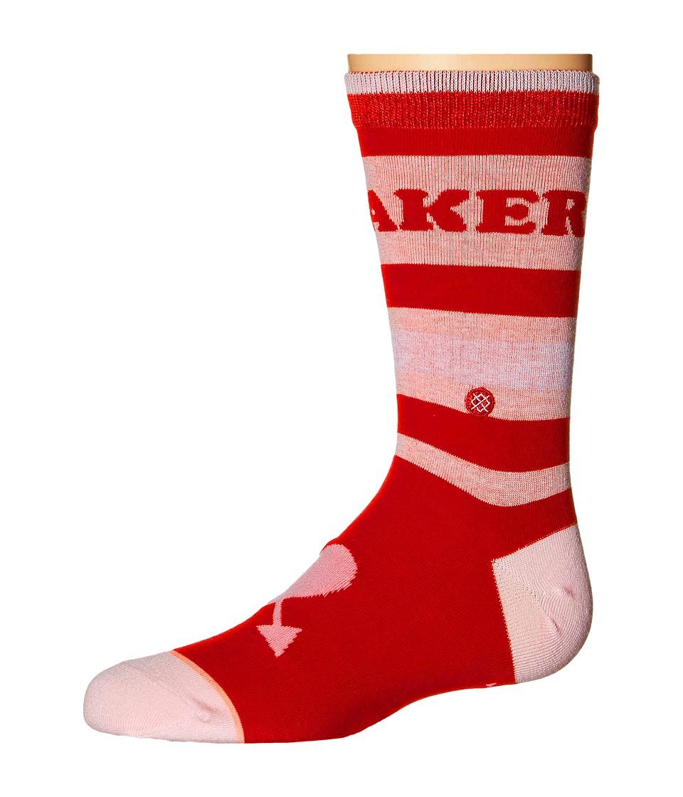 Stance Heart Breaker Toddler/Little Kid/Big Kid Red Womens Crew Cut Socks Shoes