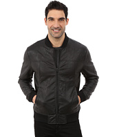 DKNY Jeans - Faux Leather Bomber Jacket