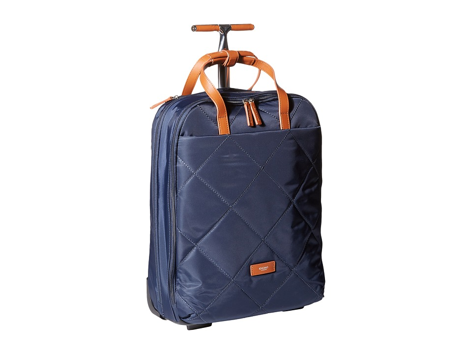 KNOMO London - Chepstow Laptop Wheeled Brief Carry-On (Navy) Carry on Luggage