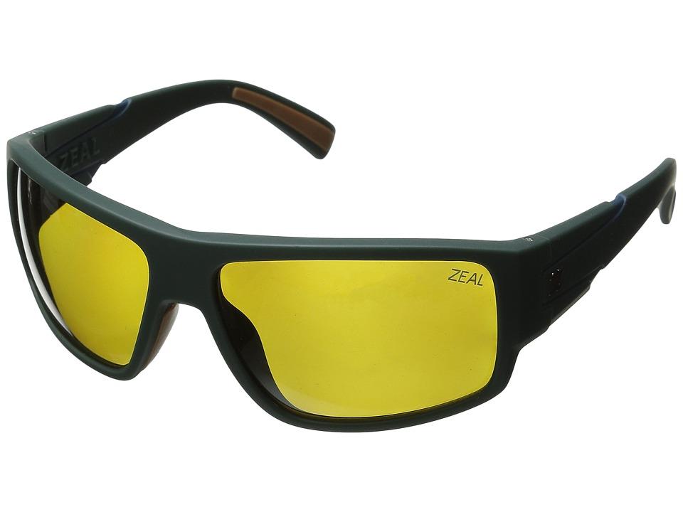 Zeal Optics Big Timber Forest Green/Polarized Auto Lens Sport Sunglasses
