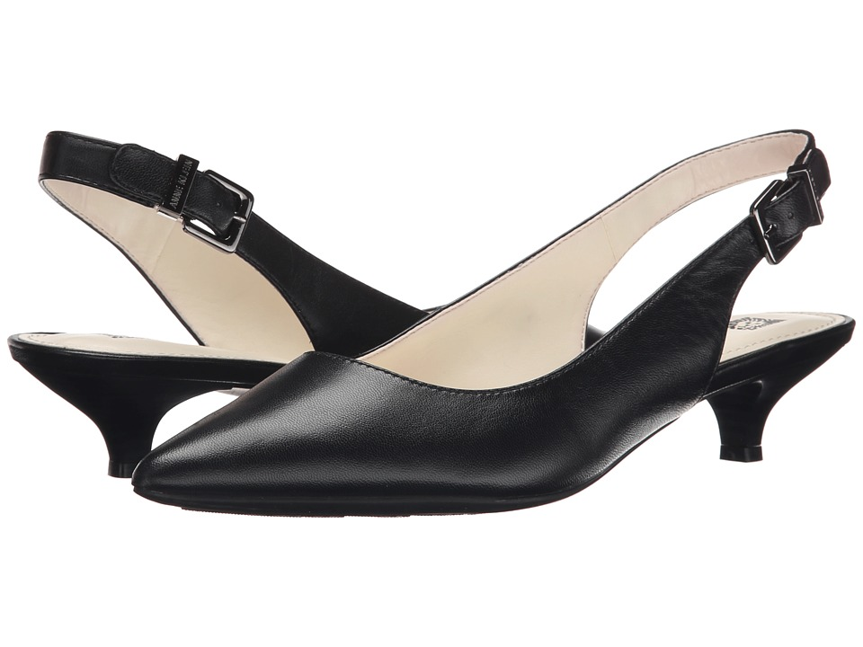 Anne Klein Expert (Black Leather) 1-2 inch heel Shoes