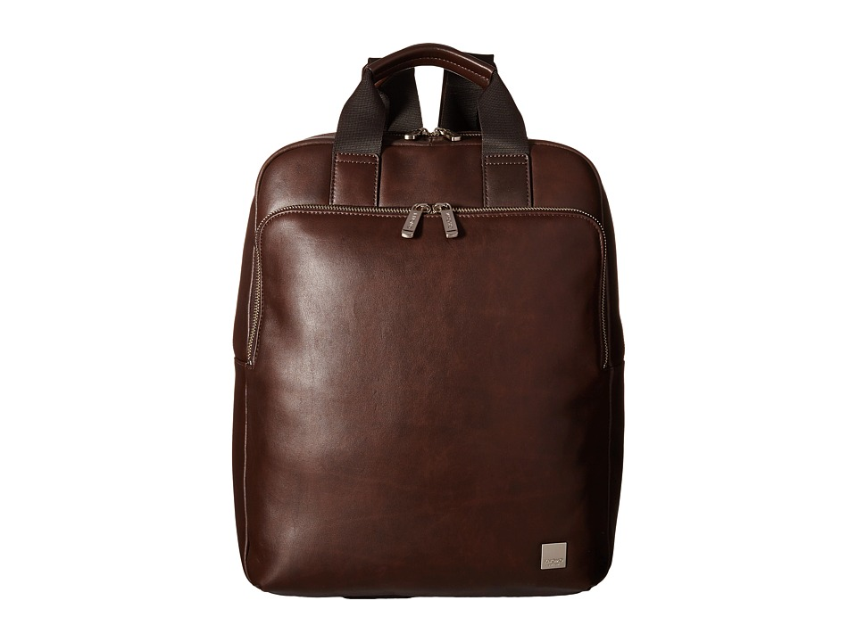 KNOMO London - Dale Laptop Tote Backpack (Brown) Backpack Bags