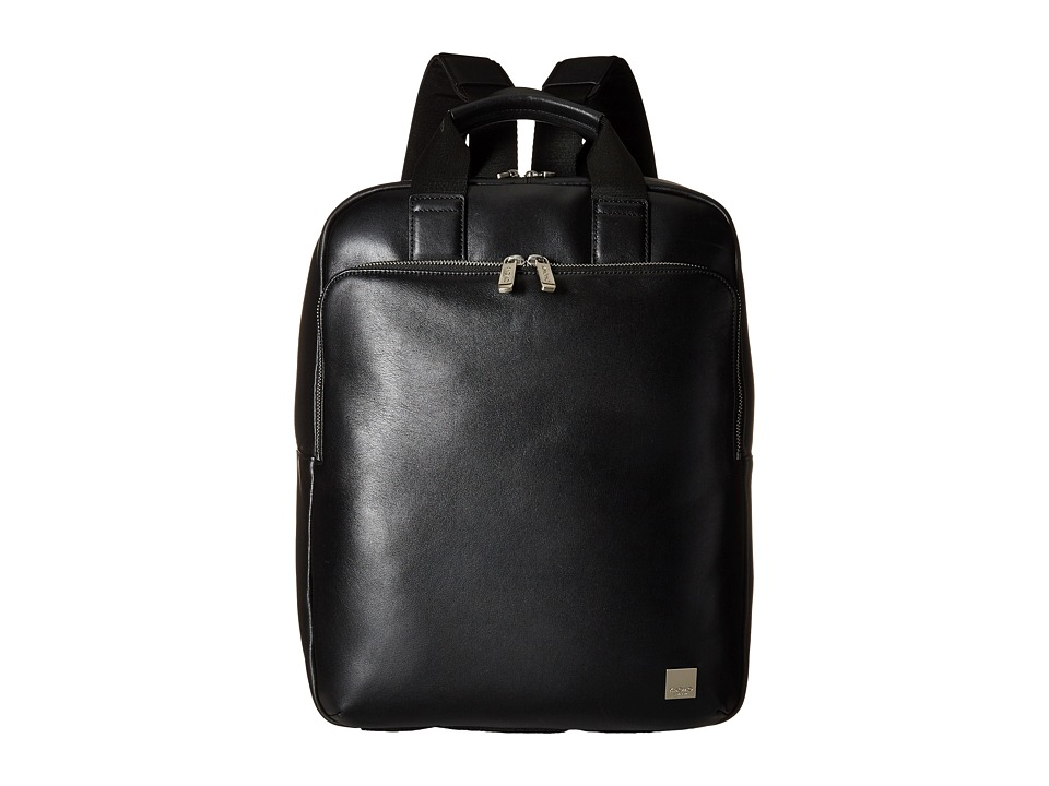 KNOMO London - Dale Laptop Tote Backpack (Black) Backpack Bags