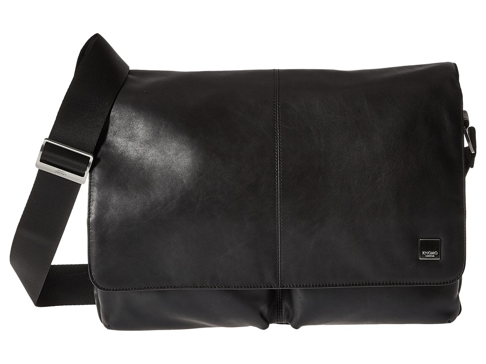 KNOMO London Kobe Messenger Laptop Bag (Black) Messenger Bags