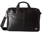 KNOMO London Durham Leather Slim Laptop Briefcase (Black)
