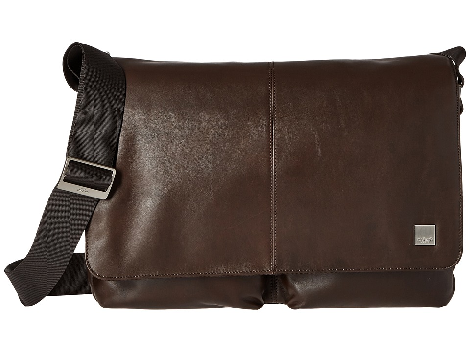 KNOMO London Kobe Messenger Laptop Bag (Brown) Messenger Bags