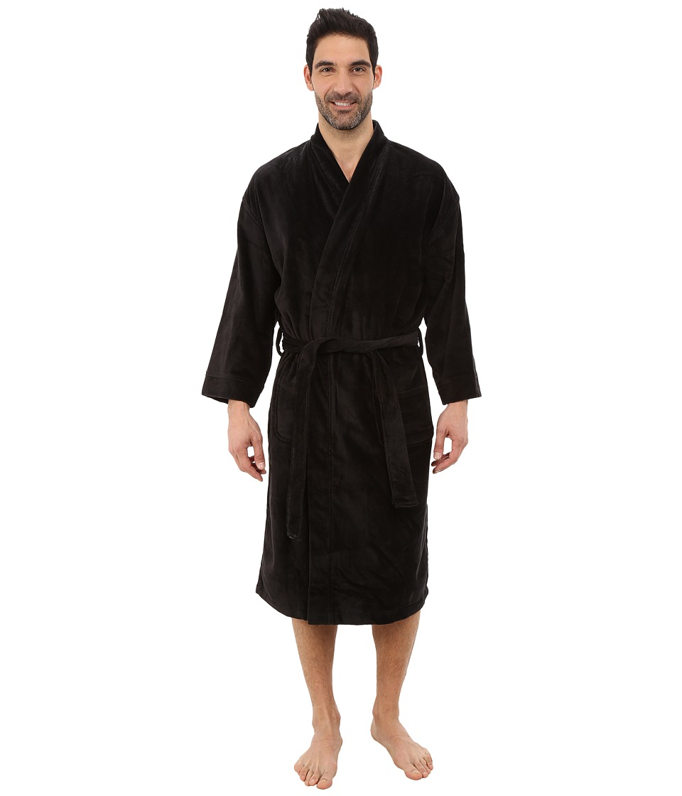 Jockey Terry Velour Solid Robe Black Mens Robe