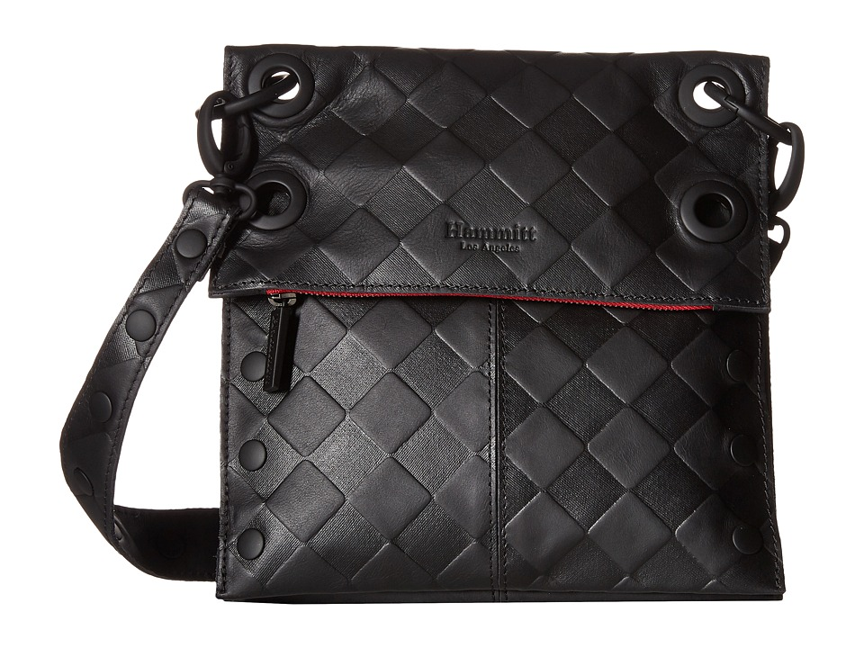 Hammitt LSM Rev Black Out/Checkered Embossed/Black Cross Body Handbags