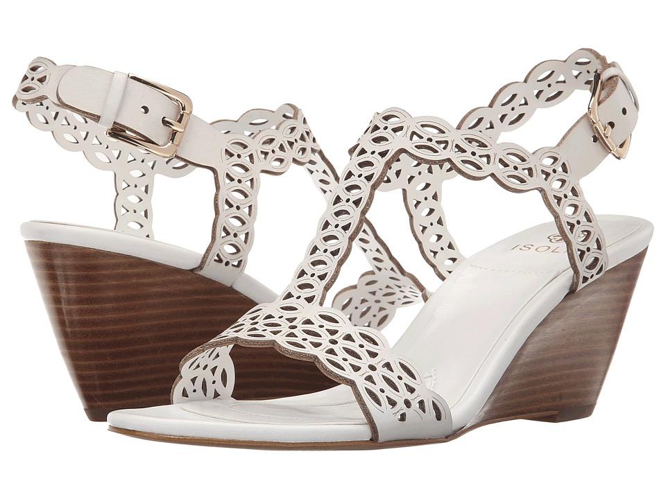 Isola Fleur White M Vege Womens Wedge Shoes