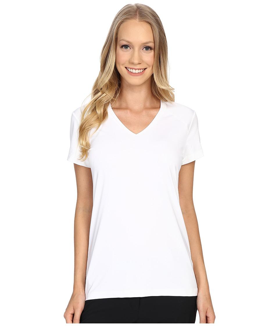 Nike golf greens top white metallic silver women 39 s for Silver metallic shirt women s