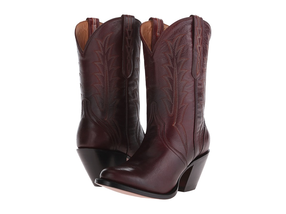 Lucchese Heather Red Cowboy Boots