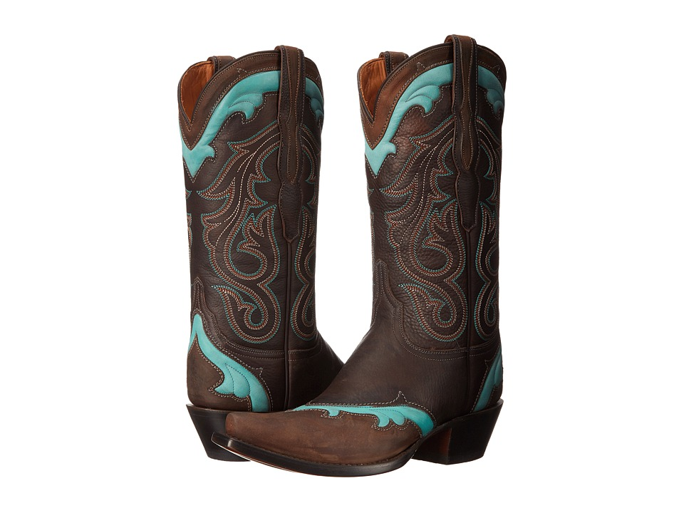 Lucchese - Loretta (Chocolate) Cowboy Boots