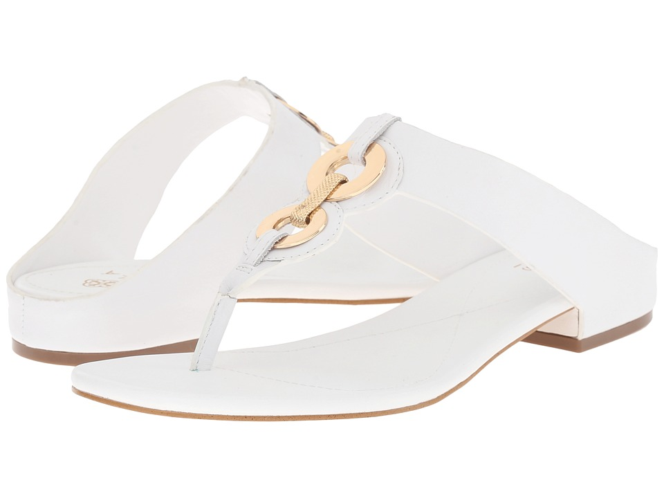 Isola Sabrina White Lucky Calf Womens Sandals