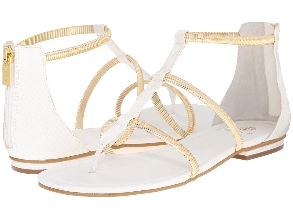 Isola Markita White Snake Print Womens Sandals
