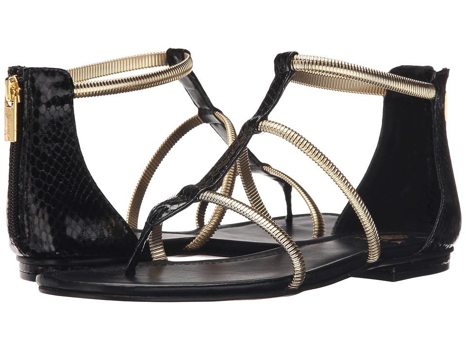 Isola Markita Black Snake Print Womens Sandals