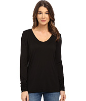 Splendid - Rayon Jersey Long Sleeve Scoop Neck