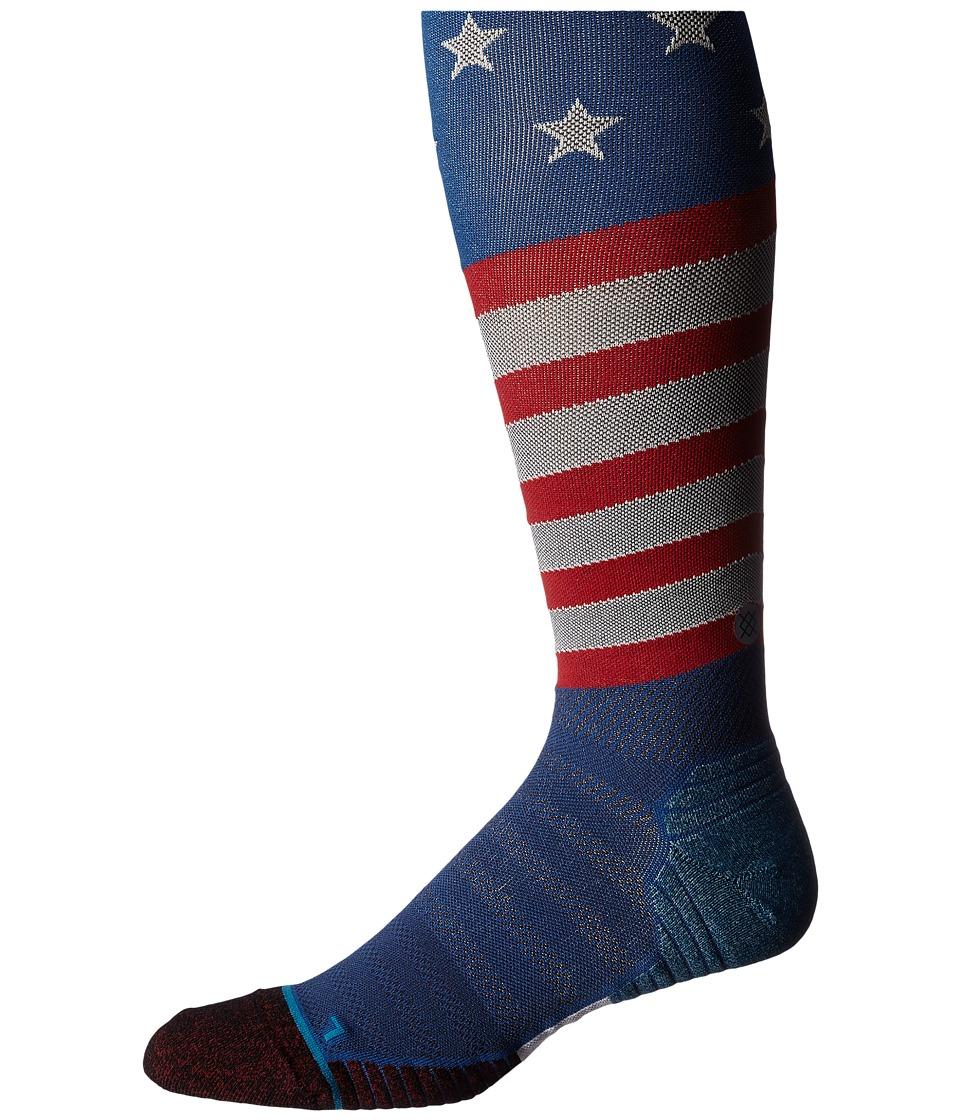 Stance Slanty Otc Blue Mens Knee High Socks Shoes