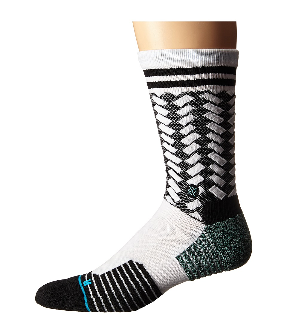Stance A Game White Mens Crew Cut Socks Shoes
