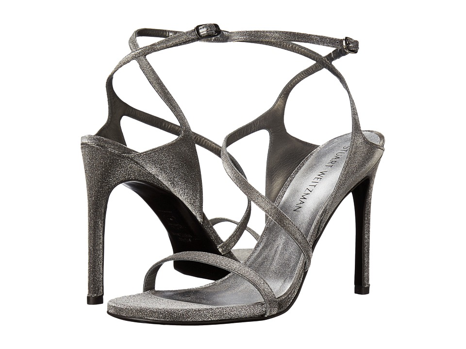 Stuart Weitzman Bridal amp Evening Collection Sultry Gunmetal Glitterati Womens Shoes