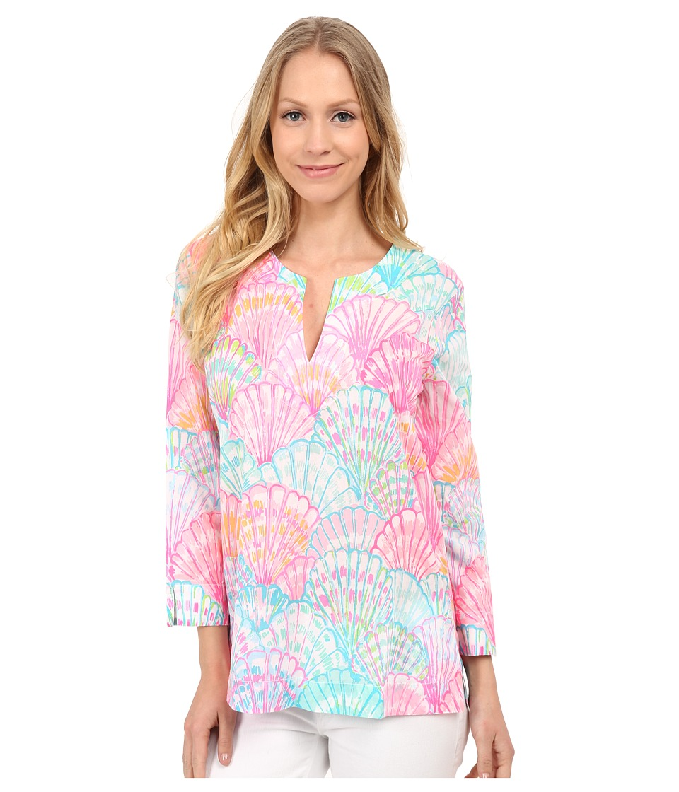 Lilly Pulitzer Amelia Island Tunic Multi Oh Shello Womens Blouse