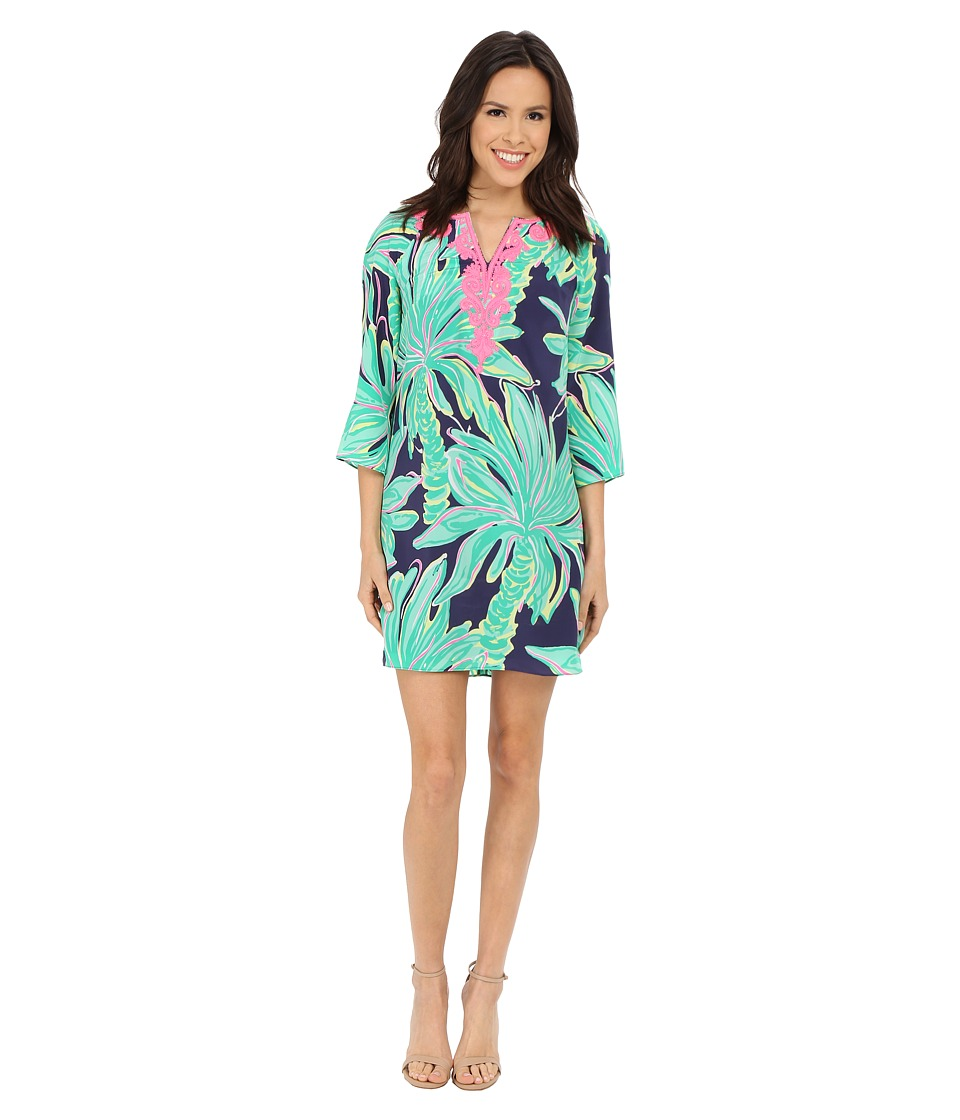 Lilly Pulitzer Rylee Shift Dress Bright Navy Tiger Palm Womens Dress